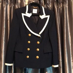 Moschino navy double breasted Blazer it46